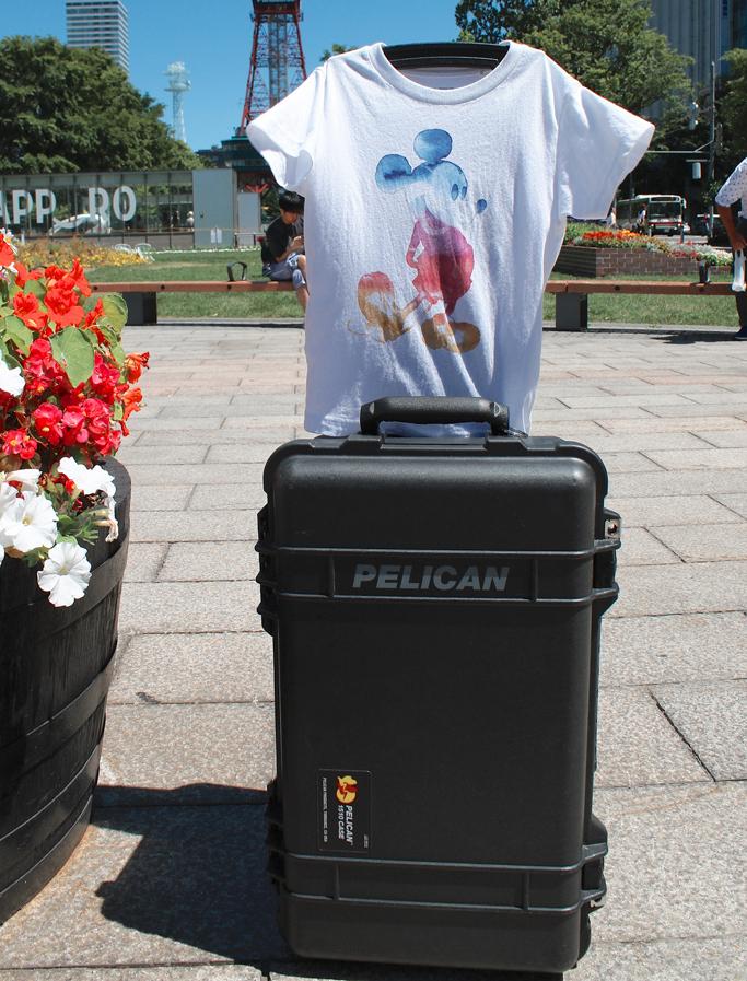 ペリカンケース1510でTシャツを乾かす