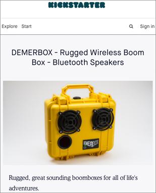 キックスターターに掲載時のDemerBox