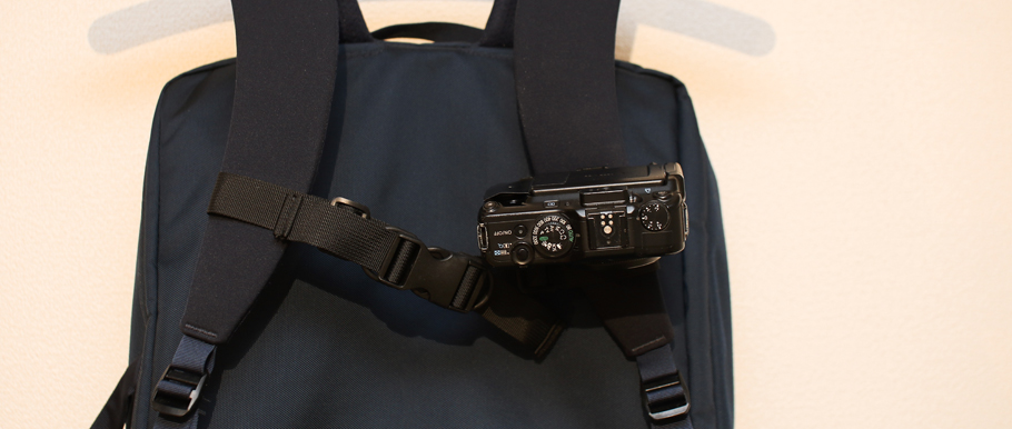 カメラ用クイックリリースにPowerShot G11を装着