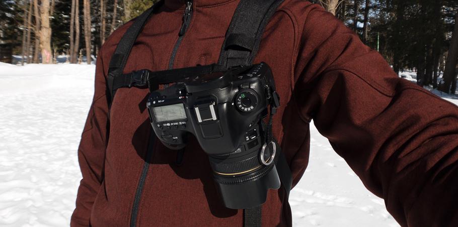 クイックリリースにCanon EOS 7D Mark2を装着