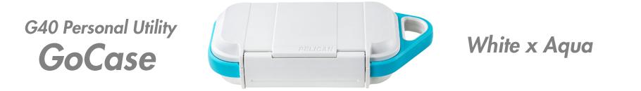 ペリカンGoCase G40 ホワイト/アクア