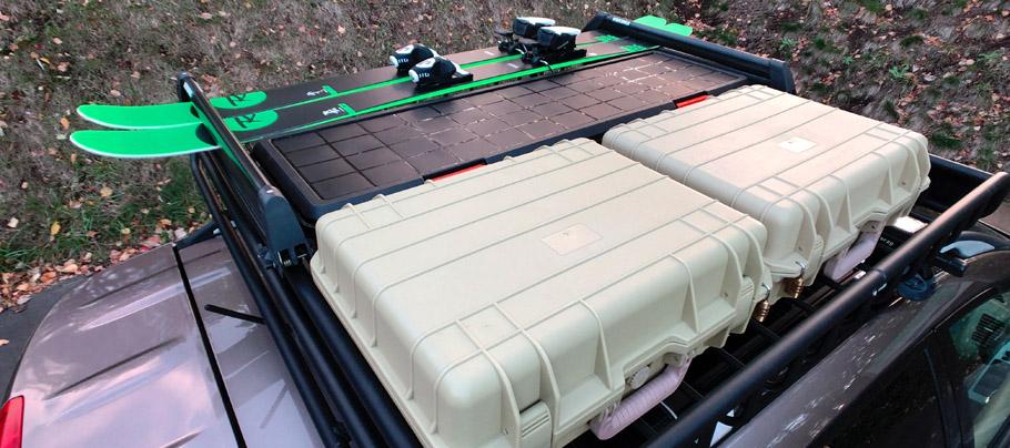HDB-1150をヤキマのルーフキャリアに載せてルーフボックス化