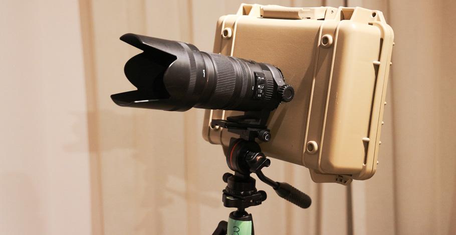 キヤノンEOS一眼レフカメラのシャッター音を消すための消音ケースをDIY作成