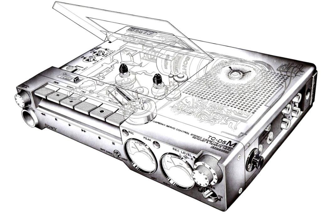 SONY TC-D5M カセットデンスケ