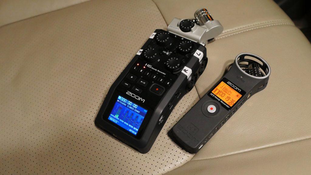ZOOM H1とH6、音の傾向を比較